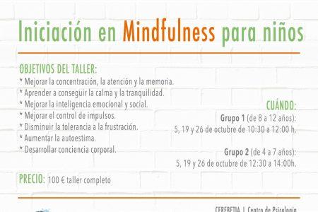 Taller de iniciación al mindfulness para niños